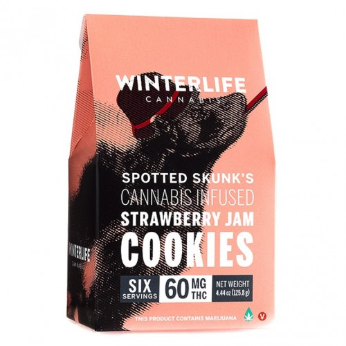 Spotted Skunk's Strawberry Jam Cookies 60 mg Logo