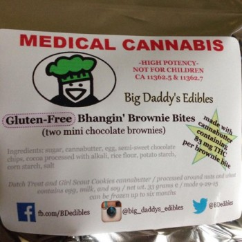 Gluten-Free Bhangin' Brownie Bites - Baked Good - Big Daddy's Edibles