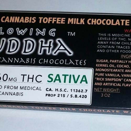 Chocolate Bar (1260mg) - Sativa - Toffee Milk Chocolate with Caramel