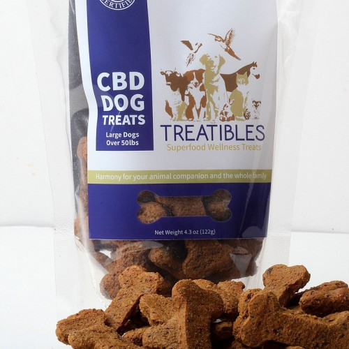 CBD Dog Treats - Large Blueberry Treats Logo