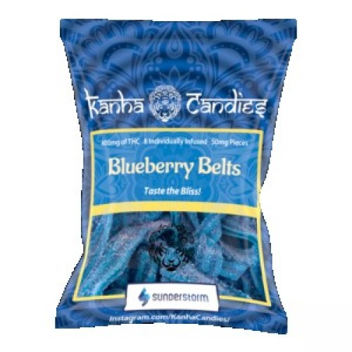 Kanha Candies - 400mg Blueberry Belts Logo