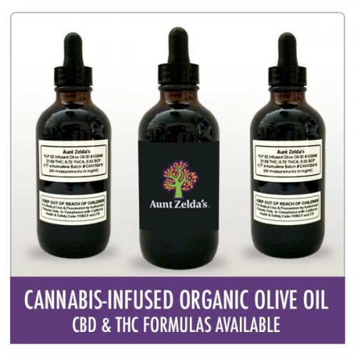 Cannabis-Infused Organic Olive Oil - CBD Logo