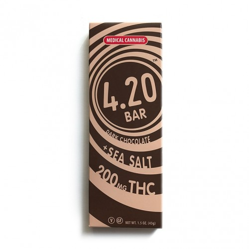 Dark Chocolate + Sea Salt 4.20Bar - 200mg Logo