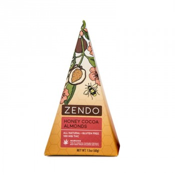Honey Cocoa Almonds, 100mg - Snack - Zendo