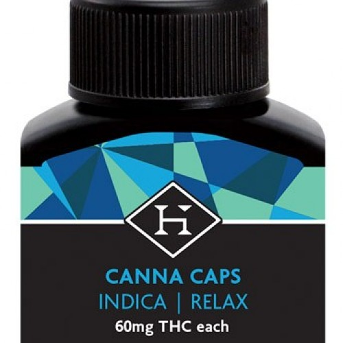 THC Hash Caps PM Indica 60mg - 5 pack