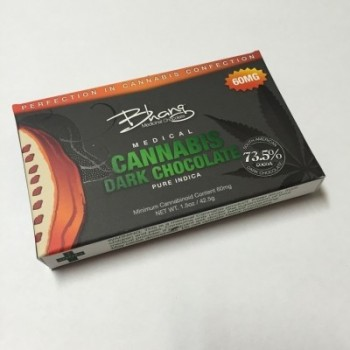 Dark Chocolate Bar - 60mg   - Chocolate - Bhang