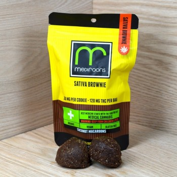 Medi-Roons Sativa Brownie 120mg - Baked Good - Hashman Infused