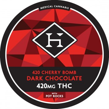 Cherry Bomb Chocolate Bar - 420mg