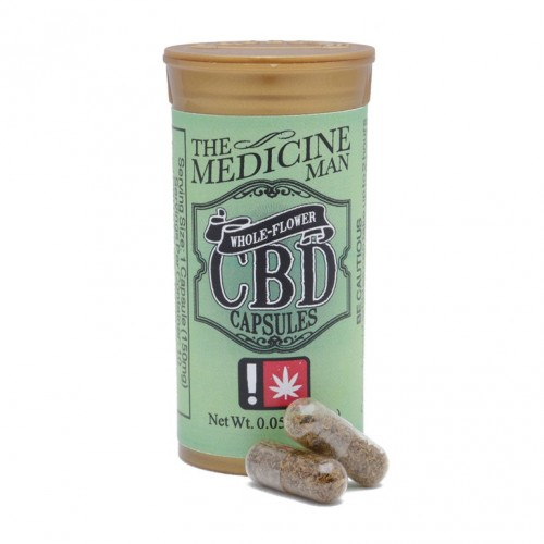 The Medicine Man - Whole Flower CBD Capsules Logo