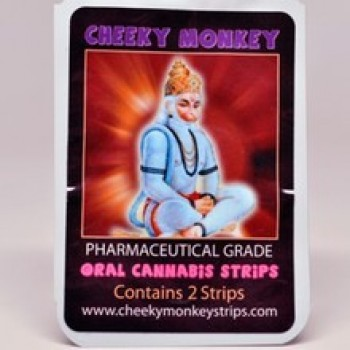 Oral Cannabis Strip 2 pack (40mg) - Breath Strip - Cheeky Monkey