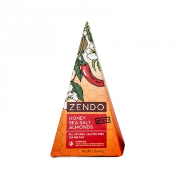 Spicy Sea Salt Almonds, 100mg - Snack - Zendo