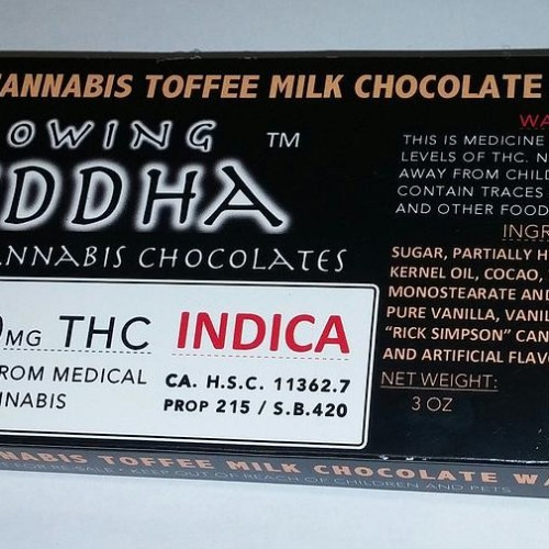 Chocolate Bars (1260mg) - Indica - Toffee Milk Chocolate with Caramel