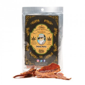 Bacon Jerky, Smoked Maple 175mg - Snack - Uncle Ronnie's Inc.