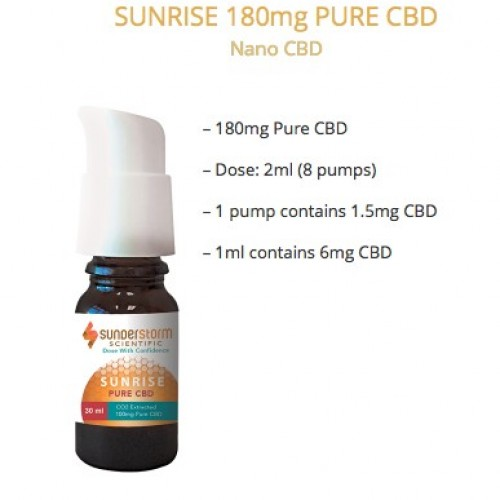 Sunrise 180mg Pure CBD