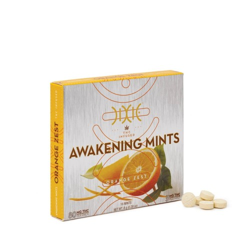 Orange Awakening Mints - 16x5mg Logo