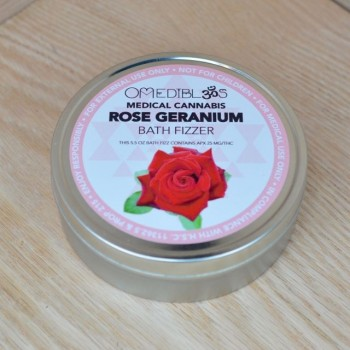 Rose Geranium Bath Fizzer - Bath - Om Edibles + Medicinals
