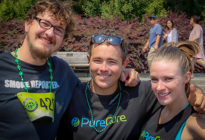 Founder David Drake with the Pure Cure Team