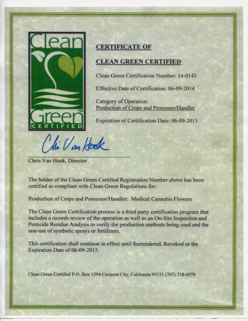 CleanGreenCertification