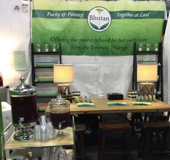 The Bhutan Booth at The Emerald Cup, Complete with Free Kombucha