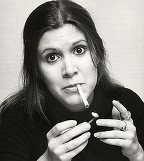 Carrie Fisher Claims She Didn't Like Cannabis, But Makes No Comment on Its Popularity with the Other Actors